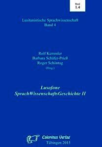 Buchcover: Lusofone SprachWissenschaftsGeschichte II
