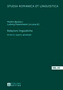 Buchcover: Relazioni linguistiche: strutture, rapporti, genealogie