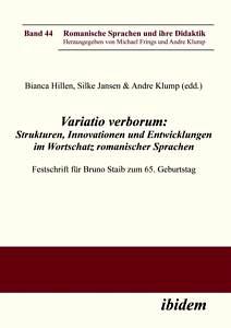 Buchcover: Staib zum 65. Geburtstag. Stuttgart: Ibidem (= Romanische Sprachen und ihre Didaktik, 44